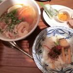 90094702 - 選べる麺飯セット(1,400円)※海老とトマトのブン&角煮ご飯