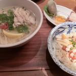90094713 - 選べる麺飯セット(1,400円)※鶏肉のフォー&コムガー