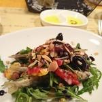 90095305 - 稚鮎のフリットと夏野菜のサラダ