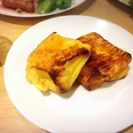 あわらの宿 八木 - こちらの人気メニュー、フレンチトースト! 想像以上に美味でした・:*+.\(( °ω° ))/.:+