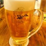 とり家ゑび寿 - 男前生ビール(大ジョッキ630mlエビスビール)