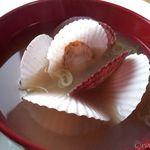 ココ・カピウ - セットのベビーホタテのお味噌汁