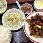 90099224 - 週替わりランチ定食「牛肉の乾鍋」980円