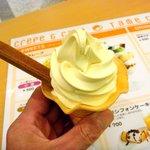 tame cafe - ソフトクリーム350円です、このバニラとチョコレート、そしてミックスがあります