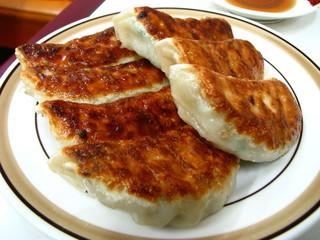 天雅 - こんがりと焼かれた餃子は食欲をそそります