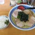土筆 - しおラーメン+チャーシュー+ライス2018.07.25