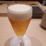 鮨みやもと - ドリンク写真:ランチビール