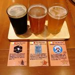 韓国料理 水刺齋 - ◆クラフトビール飲み比べセット 880円 ※HappyHour12:00~18:00限定