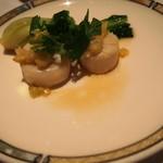 シルクロードガーデン - 帆立貝の葱生姜蒸し 西洋わさび風味