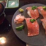 牛ステーキ おく乃 - 料理写真:松坂牛のお寿司 1貫1,000円