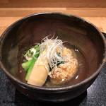和食 なり - 虎魚の霰揚げに河豚の白子焼の銀餡掛け