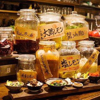手作りの調味料で創作和食を提供。気軽に飲める気さくな居酒屋