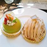 る・ぷらんたん  - 料理写真:ピスターシュとモンブラン