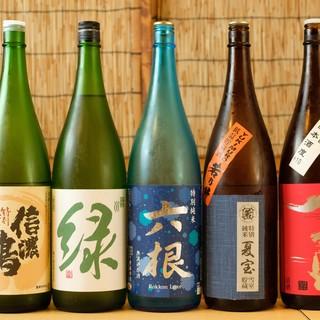こちらも時期に見合った美味しい銘酒◎日本酒・焼酎があります!