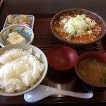 90116893 - 「もつ煮定食(おかず大盛)」800円