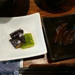 鶏水炊き・焼鳥 健美宴 - 小鉢2種