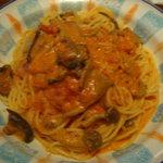 9012804 - キノコのトマトクリームスパゲティ