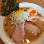 麺屋あした - 醤油白湯麺 850円 + 味玉半玉 50円