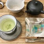 茶菓 えん寿 - 煎茶「ゆめわかば」+水花火(セット750円)