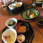 旬菜京肴 寛 - 料理写真:先付けと刺身2種盛りです。