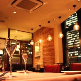 【個室&夜景の見えるカウンター席】接待・デート・女子会に最適