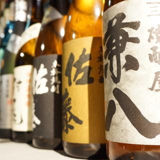 店主厳選の旨い酒の数々