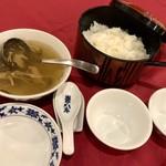 重慶飯店 - フカヒレスープとご飯