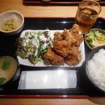 蕎麦酒家 笑よし - 唐揚げ定食¥780-