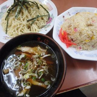 丸信中華そば - 料理写真:つけ麺半チャーハン!