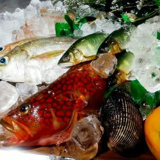 厳選した新鮮な魚介!