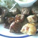 レストラン ふりっぱー - サイコロステーキのアップ