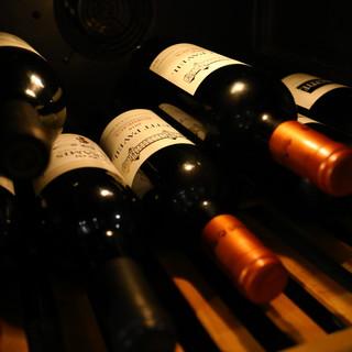 種類も豊富に取り揃えられたワイン
