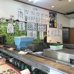 にこにこ寿司 - 壁のメニュー