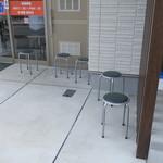 王蘭 - 店頭のウェイティングスペース