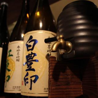 焼酎好きにはたまらない、お酒の種類の豊富さ・・・