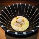 ristorante Tsurunosou - とうもろこしのスープ、フォアグラ、焼きとうもろこし