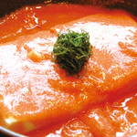 川西の和がや - 人気の明太豆腐は、やみつきに。