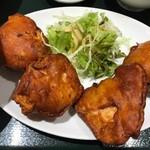 南京路 - 料理写真:から揚げハーフ定食