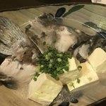 旬菜処 びいどろ - 石垣島 ミーバイの頭と島豆腐のマース煮