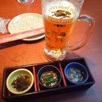 90151315 - 生ビールとお通し(先付け)