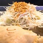 90155089 - 盛った後                       麺がWならソースで目印
