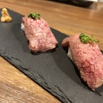焼肉 あじと - 和牛肉寿司【三貫】