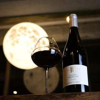 まぁるいまぁるいお月様♥満月のもと美味しいワインが飲めます♪