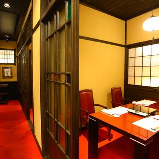 全席完全個室の上質な空間