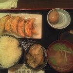 日本橋焼餃子 - 焼餃子定食 餃子10個と煮卵