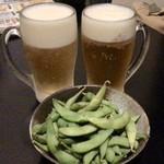 全席個室居酒屋 竹取御殿 - エビスビール