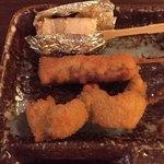 串屋 - カニのキス巻き 牛ヒレ肉 海老のしそ巻き