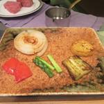鉄板焼 りんどう - 焼き野菜盛り合わせ