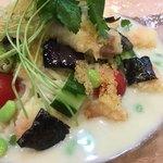 90166112 - 小海老天に夏野菜、魚卵、海苔など