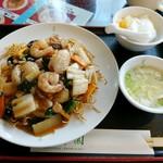 日光 翠園 - 炒麺定食